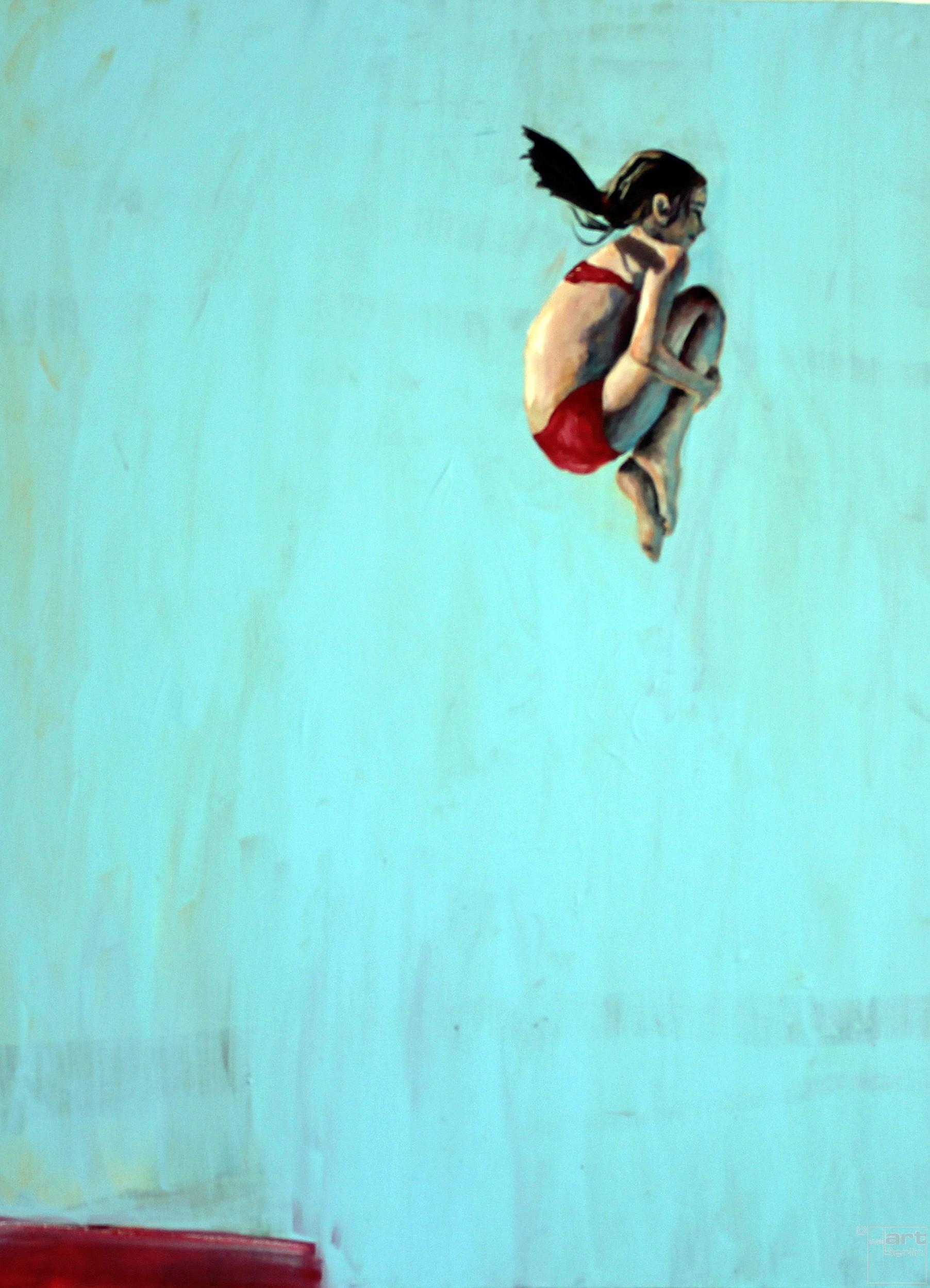 Sprung | Malerei von Künstlerin Simone Westphal, Acryl auf Leinwand