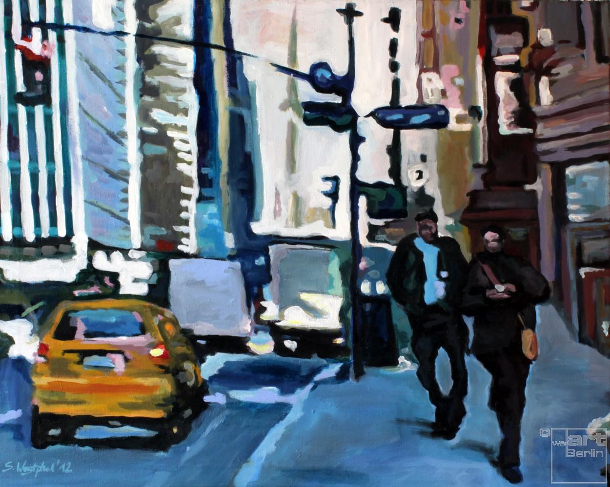 New York | Malerei von Künstlerin Simone Westphal, Acryl auf Leinwand
