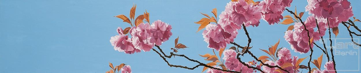 Baumblüte | Malerei von Sven Wiebers | Acryl auf Baumwolle, realistisch