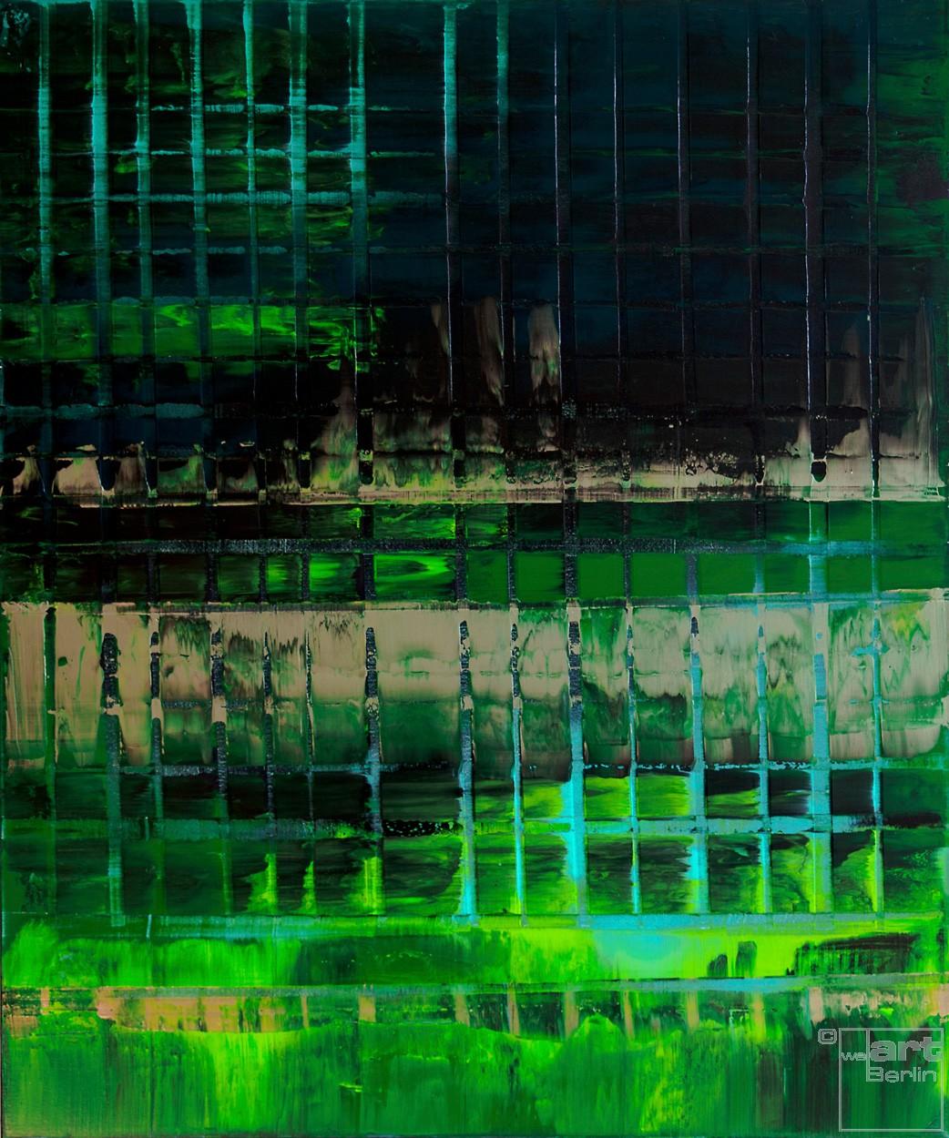 Grüne ARMA | Malerei von Lali Torma | Acryl auf Leinwand, abstrakt