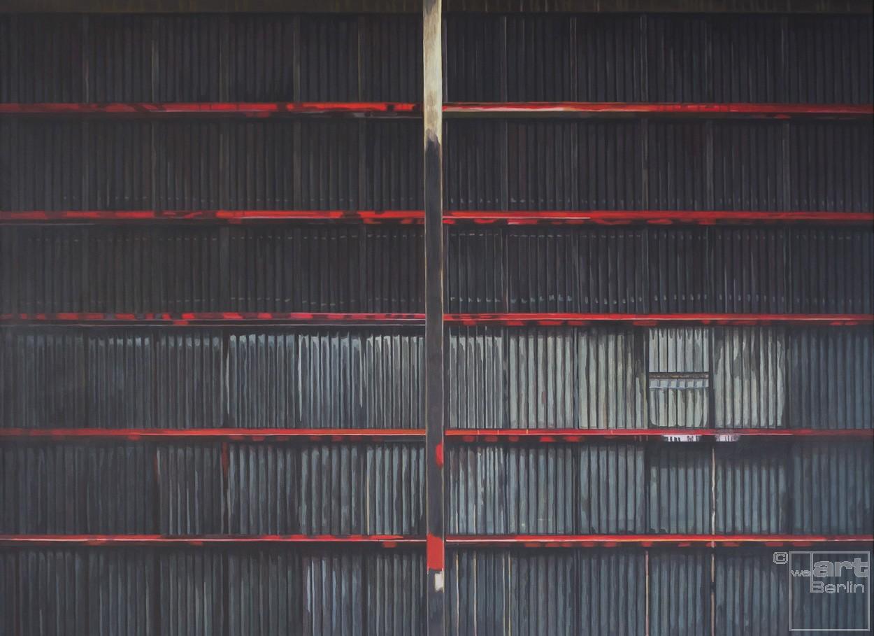 Dach | Malerei von Sven Wiebers | Acryl auf Baumwolle, realistisch