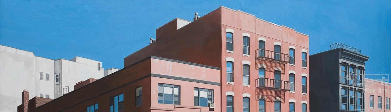 East Village | Malerei von Sven Wiebers | Acryl auf Baumwolle, realistisch