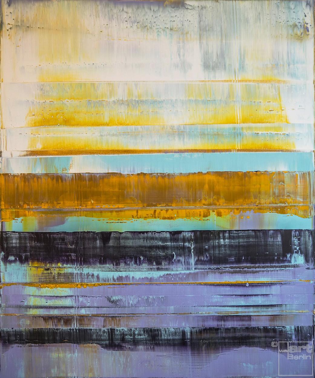 Prisma 2 - Türkiser Schimmer | Malerei von Lali Torma | Acryl auf Leinwand, abstrakt