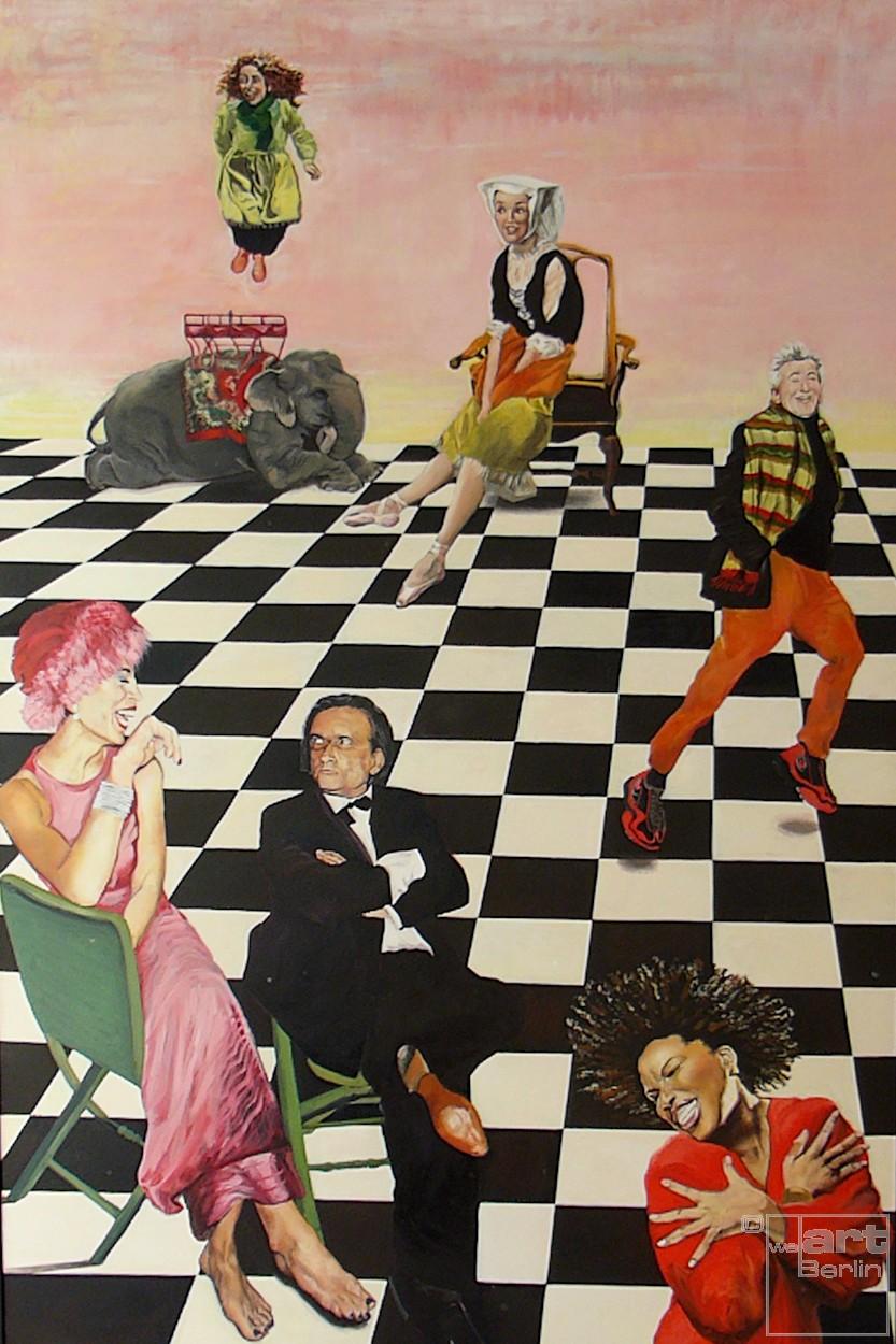Schachmatt   Malerei von Eva Nordal   Öl auf Baumwolle, realistisch