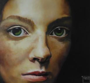 Der Augenblick | Malerei von Eva Nordal | Öl auf Leinwand, realistisch