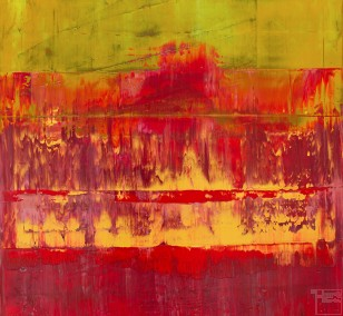 Primsa 11 - Alte Kirche Rubin | Malerei von Lali Torma | Acryl auf Leinwand