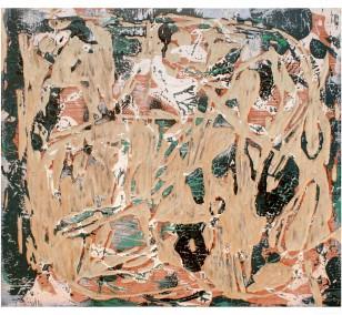 o.T. S1_15 FarbeHolz | Malerei von Malwin Faber | Acryl auf Holz, abstrakt