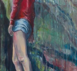 In die Tiefe | Malerei von Künstlerin Simone Westphal, Öl auf Leinwand