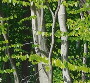Im Grunewald | Malerei von Sven Wiebers | Acryl auf Baumwolle, realistisch