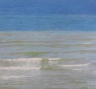 Kleine Wellen | Malerei von Sven Wiebers | Acryl auf Baumwolle, realistisch