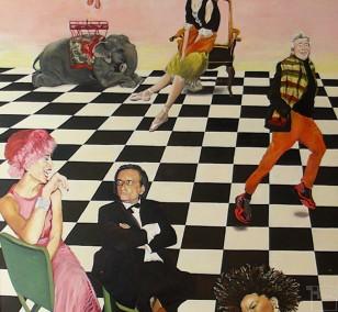 Schachmatt | Malerei von Eva Nordal | Öl auf Baumwolle, realistisch
