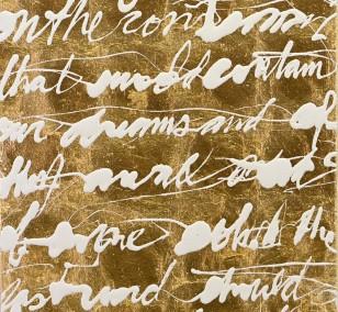 Malerei Befehlen und Erobern #19 | Künstler Marek Schovanek, Lack und Schlagmetall Gold, Serie Command and Conquer