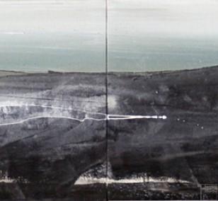 Malerei RIP | Künstler Marek Schovanek | Mixed Media auf Leinwand, Panorama