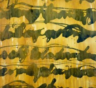 Malerei Stenografie #12 | Künstler Marek Schovanek, Bienenwachs und Glasurlack auf Leinwand