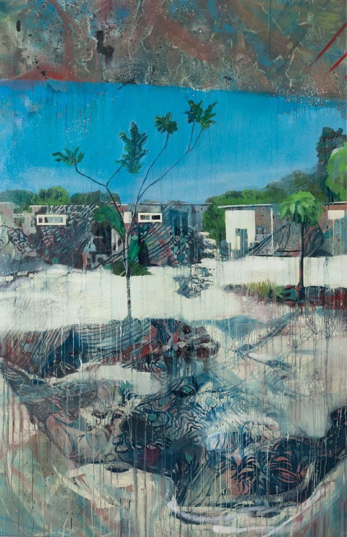 Spurensicherung_02, Malerei von Malwin Faber