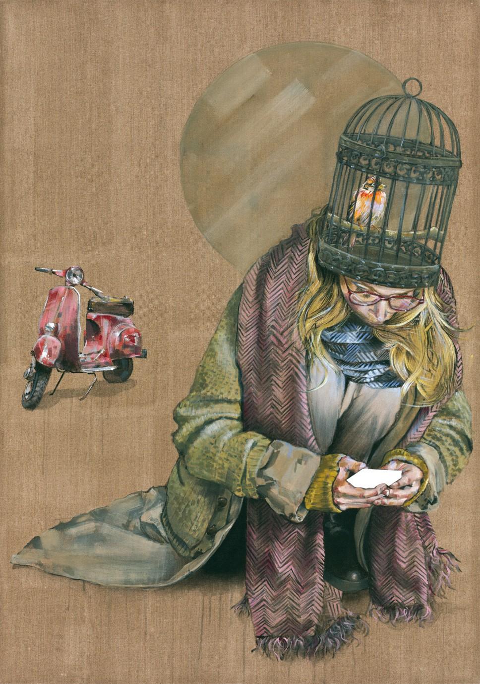 eingesessen | Malerei von Holger Weissflog, innerfields | Acryl auf Leinwand, Urban Art