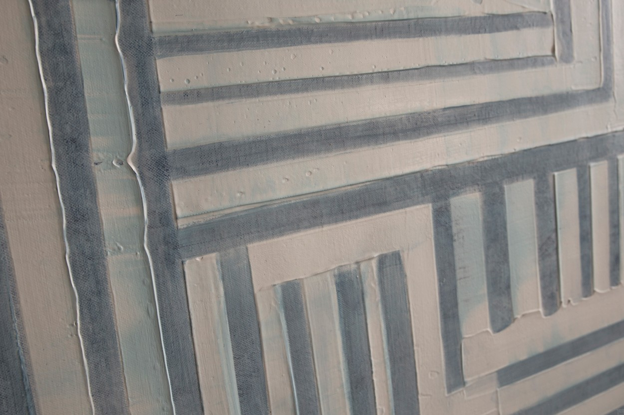 Frankie Goes to Montreal, Detail von links, Malerei von Lali Torma   Acryl auf Leinwand