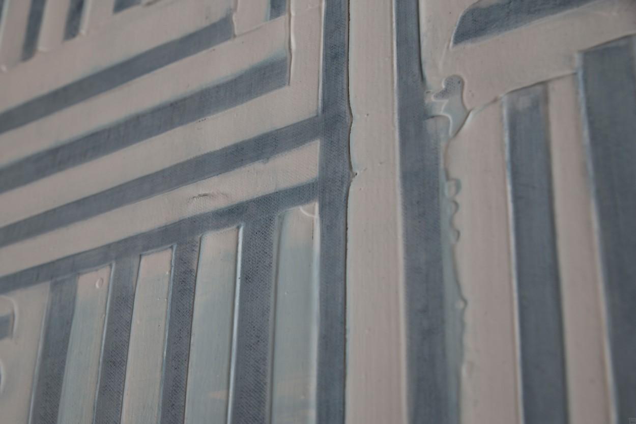 Frankie Goes to Montreal, Detail von rechts, Malerei von Lali Torma   Acryl auf Leinwand