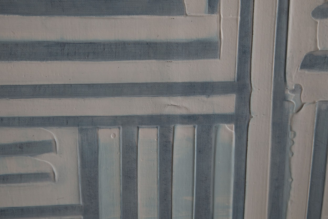 Frankie Goes to Montreal, Detail, Malerei von Lali Torma   Acryl auf Leinwand