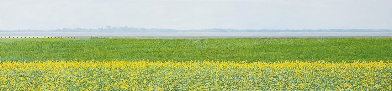 Fischland   Malerei von Sven Wiebers   Acryl auf Baumwolle, realistisch