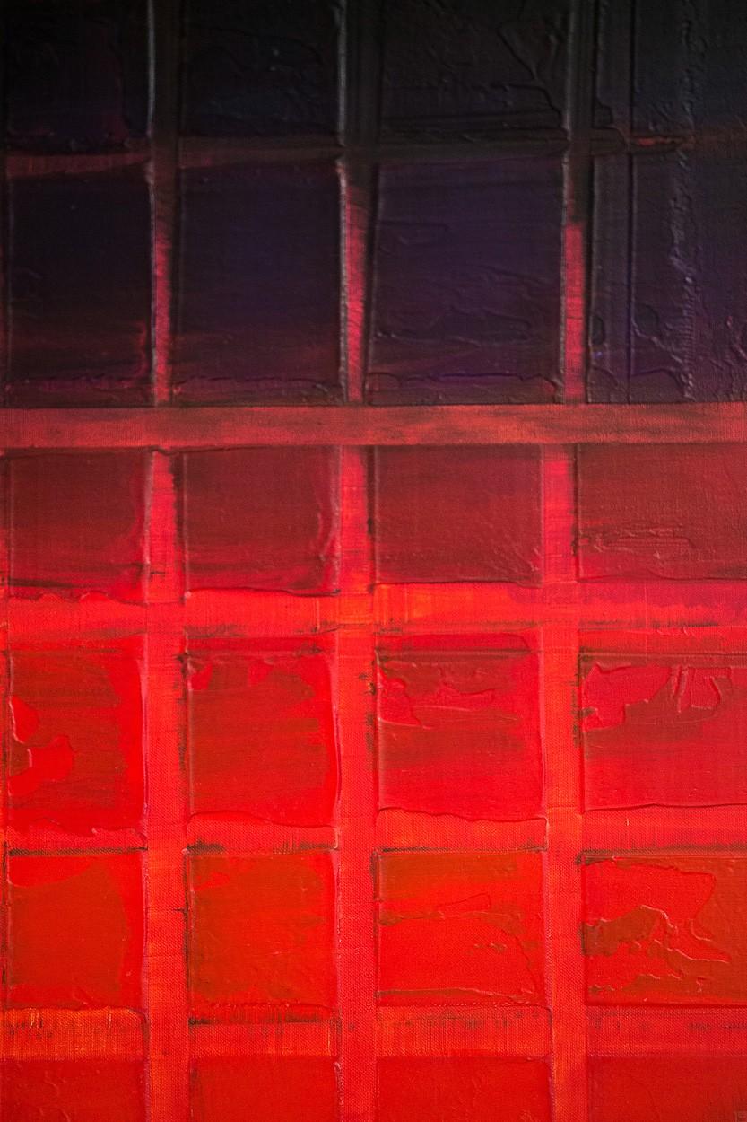 Unter Druck, Detail | Malerei von Lali Torma | Acryl auf Leinwand, abstrakt
