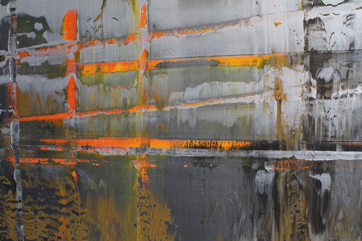 Onyx-Dekonstruktion, Detail, Malerei von Lali Torma | Acryl auf Leinwand, abstrakt