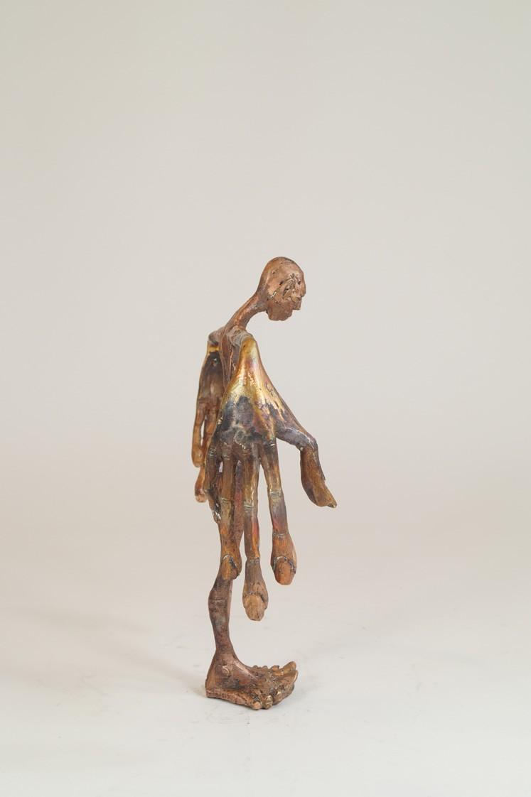 Sprachlos - von links, Bronze Plastik, Skulptur von Tim David Trillsam