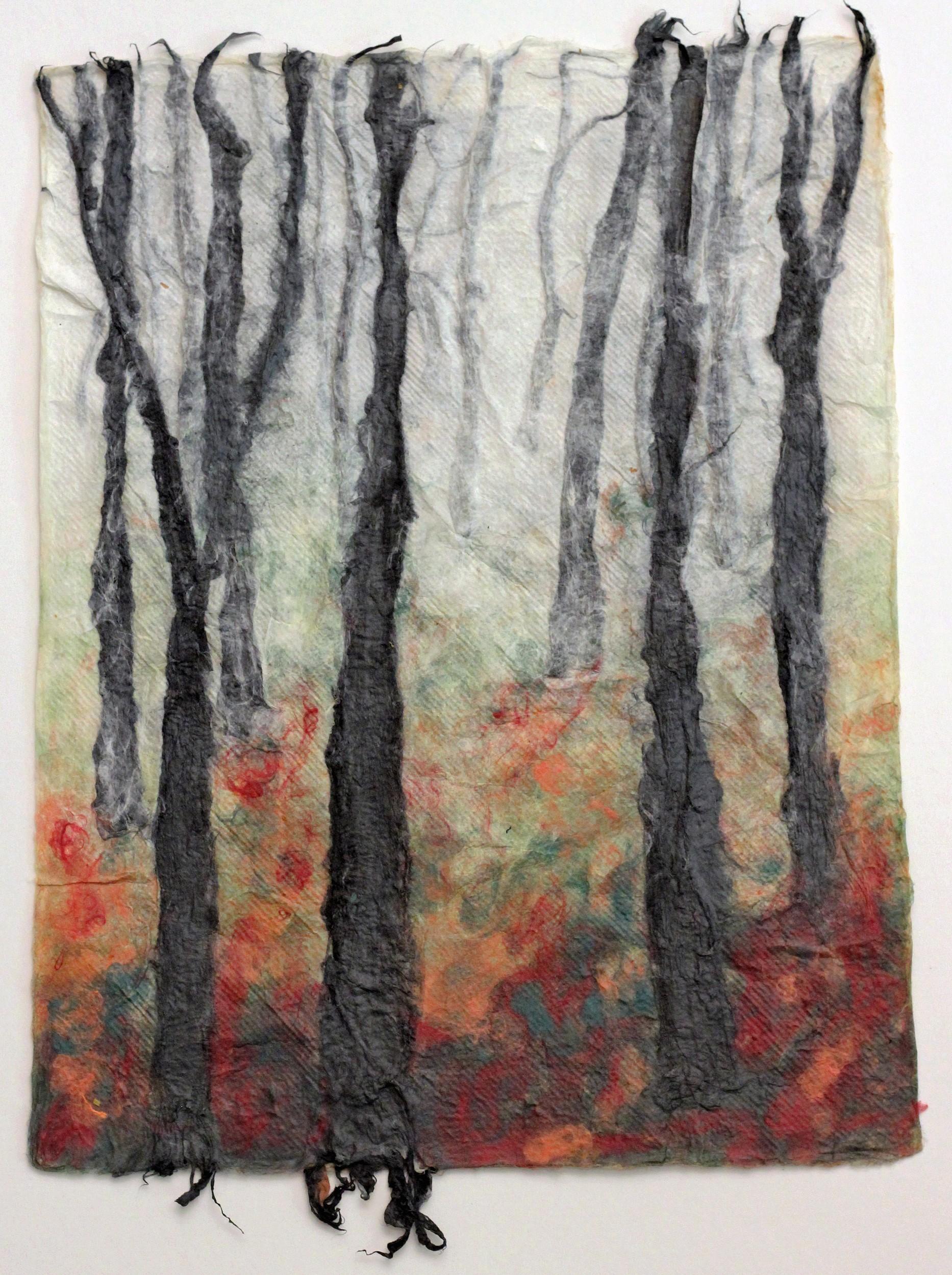 Bäume im Herbst | Malerei von Künstlerin Simone Westphal, Papiermalerei