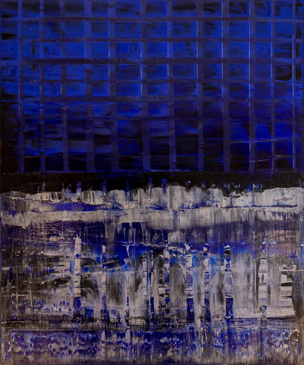 Vor Dekonstruktion | Malerei von Lali Torma | Acryl auf Leinwand, abstrakt