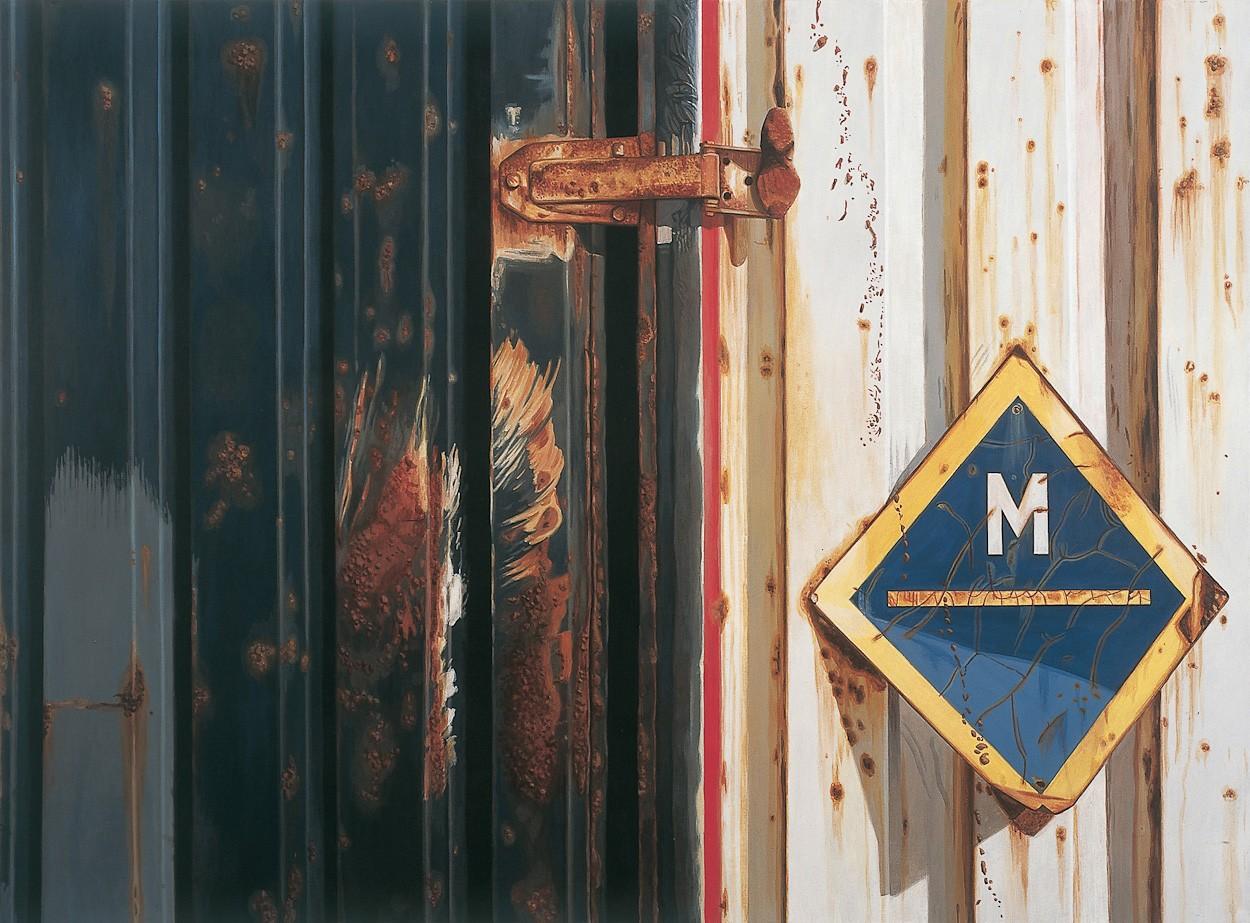M | Malerei von Sven Wiebers | Acryl auf Baumwolle, realistisch