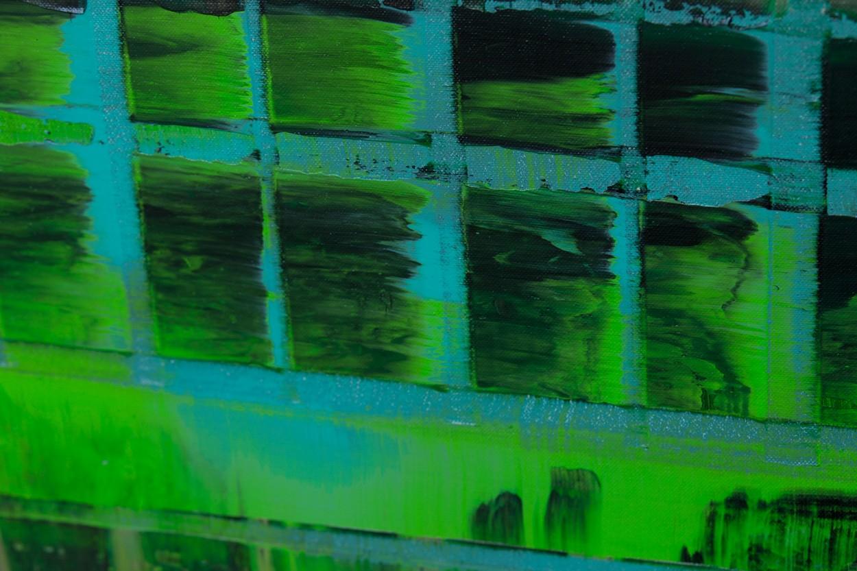 Grüne ARMA, Detail, Malerei von Lali Torma | Acryl auf Leinwand, abstrakt