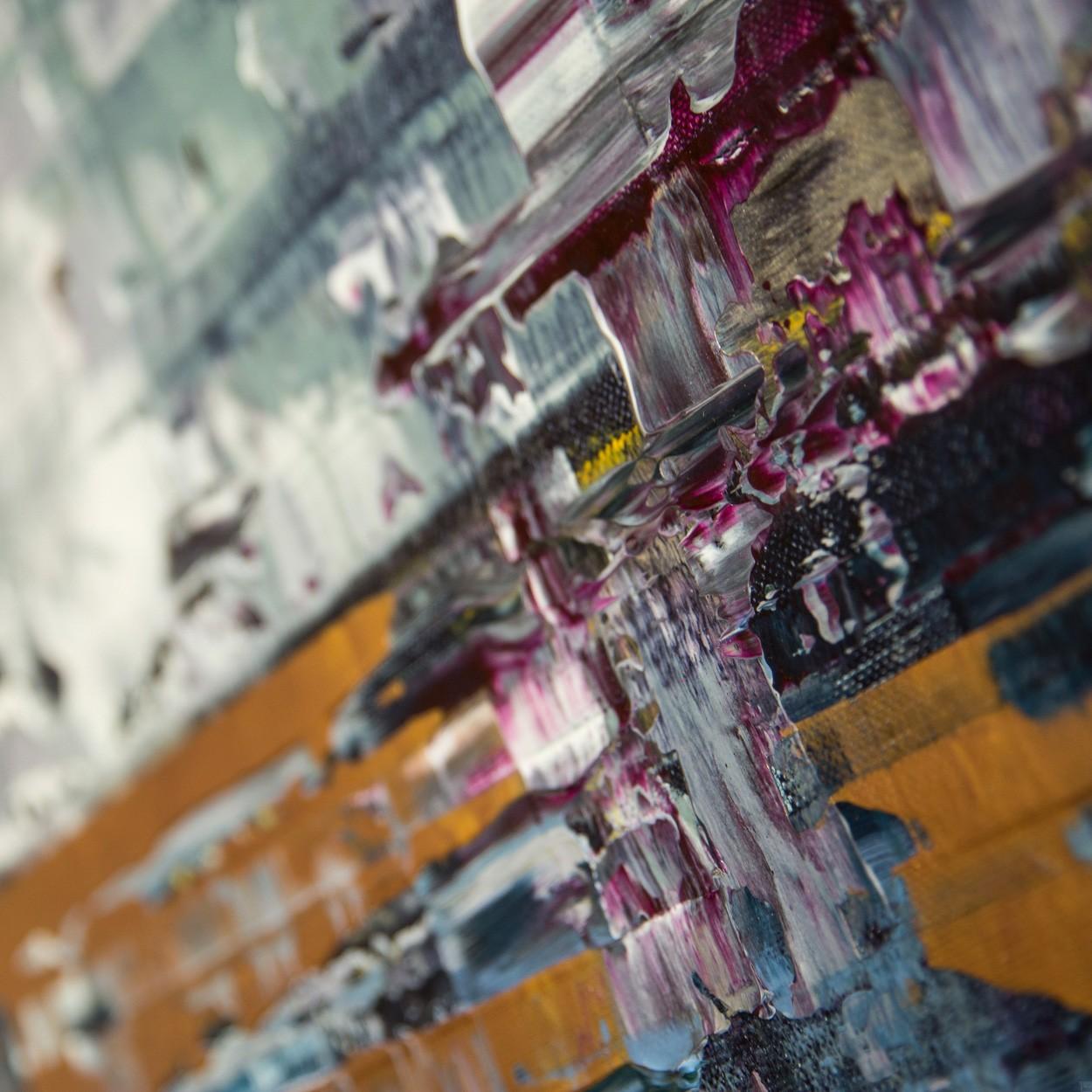 Pixel 1, Detail seitlich 1 | Malerei von Lali Torma | Acryl auf Leinwand, abstrakt