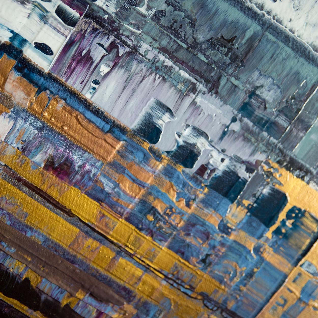 Pixel 1 Detail seitlich 2 | Malerei von Lali Torma | Acryl auf Leinwand, abstrakt