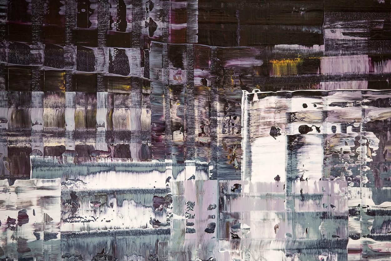 Pixel 1 - Detail frontal 2 | Malerei von Lali Torma | Acryl auf Leinwand, abstrakt