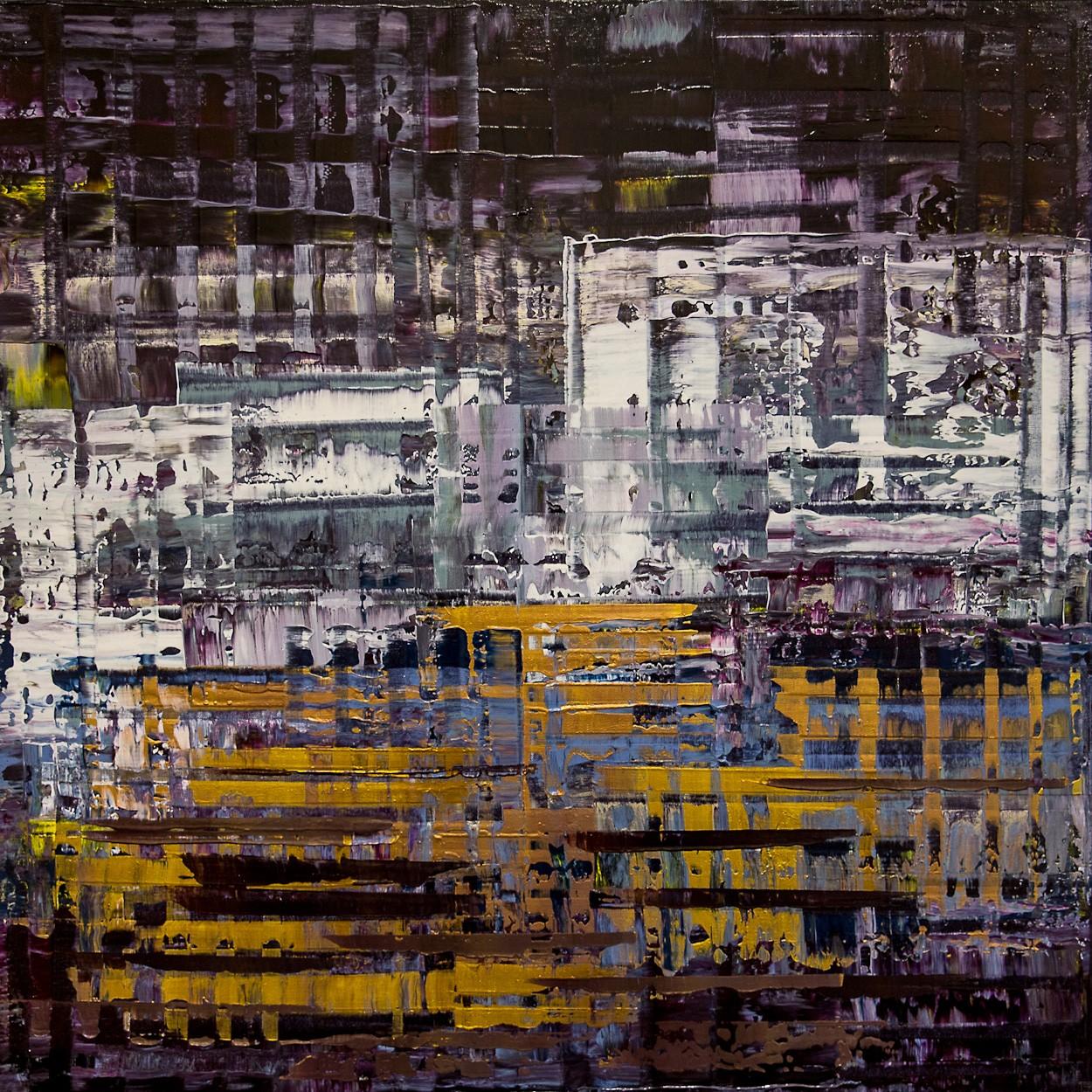 Pixel 1 | Malerei von Lali Torma | Acryl auf Leinwand, abstrakt
