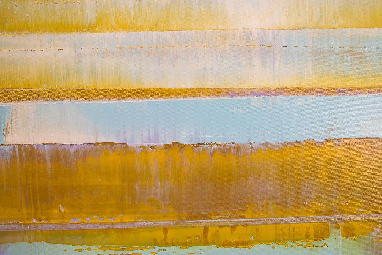 Prisma 2 - Türkiser Schimmer, Nahaufnahme | Malerei von Lali Torma | Acryl auf Leinwand, abstrakt