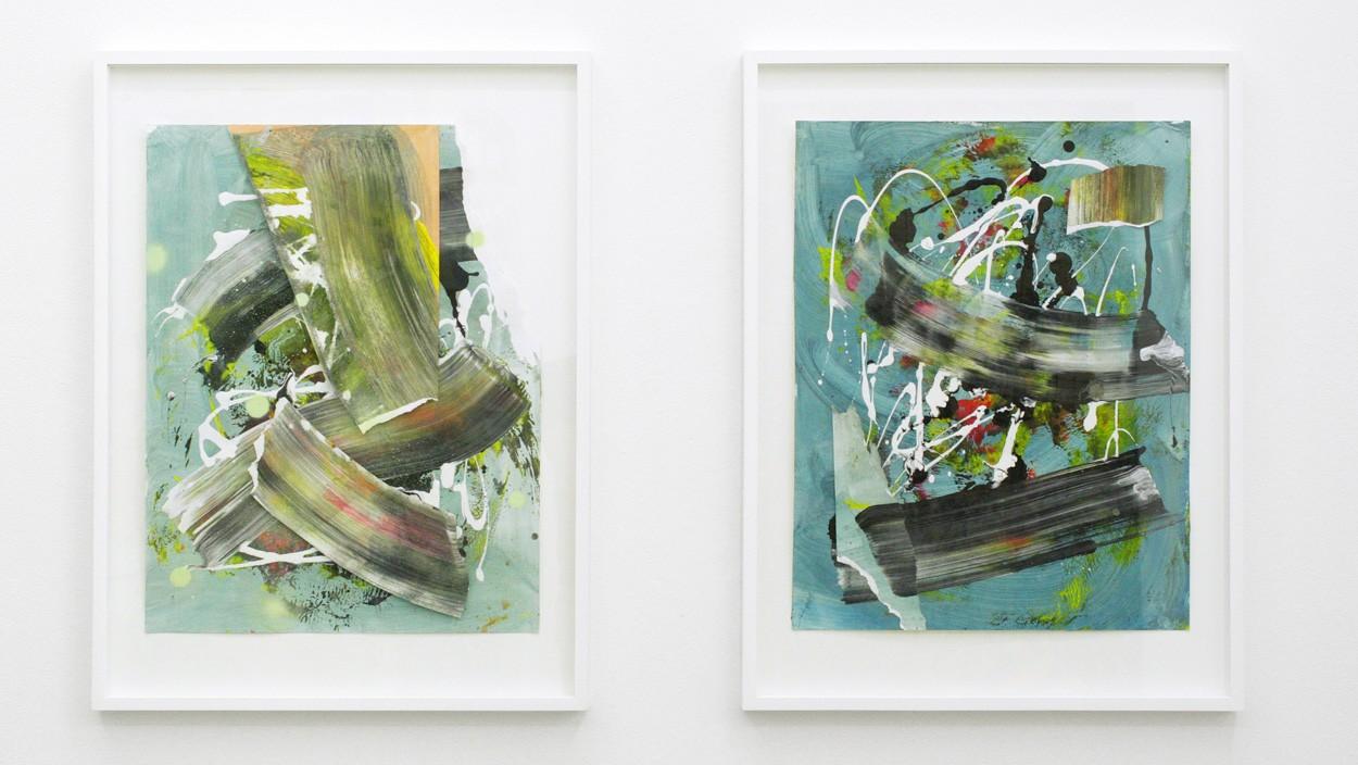 Malereien Zwischenräume _6.1, _6.2, gerahmt   Künstler Malwin Faber