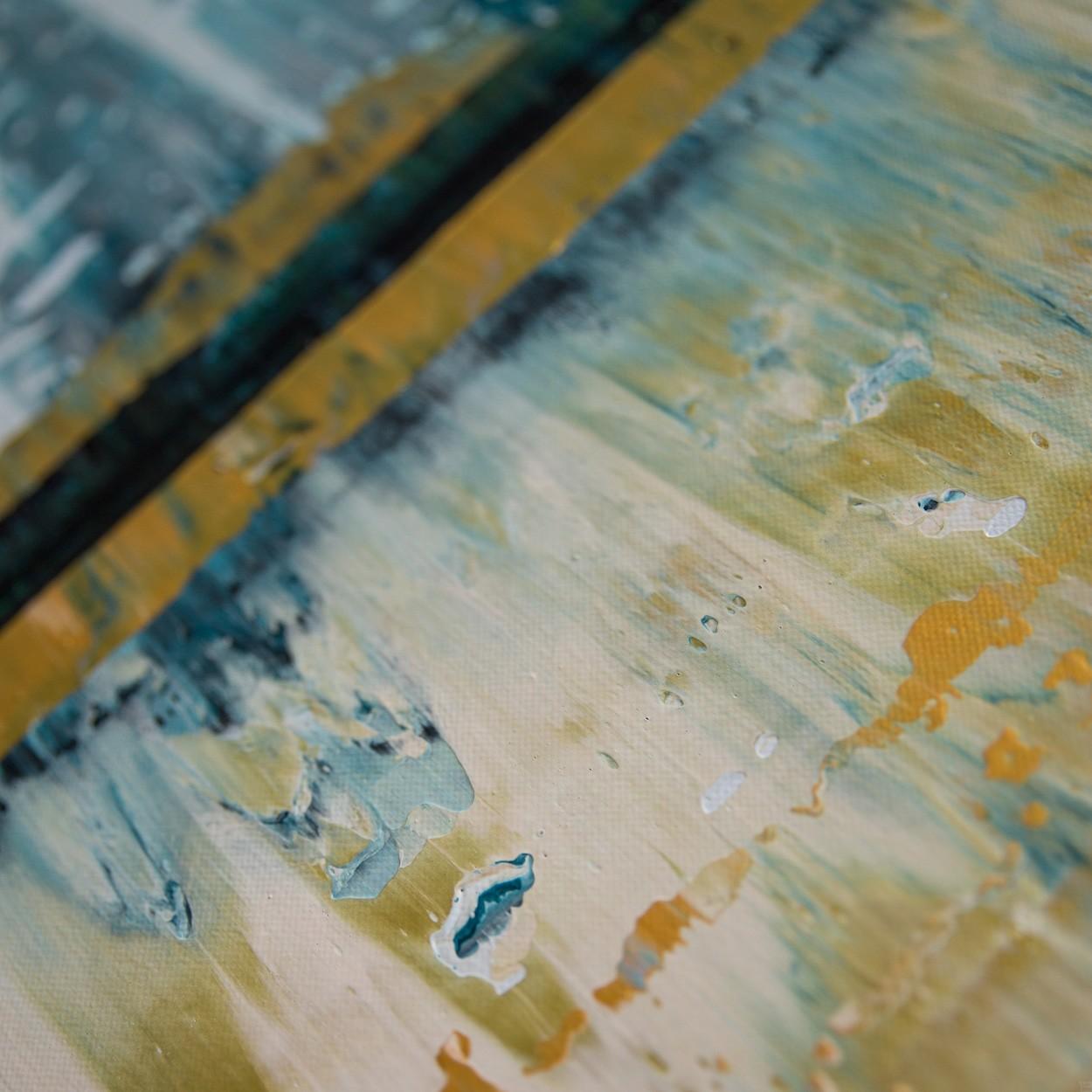 Prisma 6 - Kleiner Fluss, Detail | Malerei von Lali Torma | Acryl auf Leinwand, abstrakt