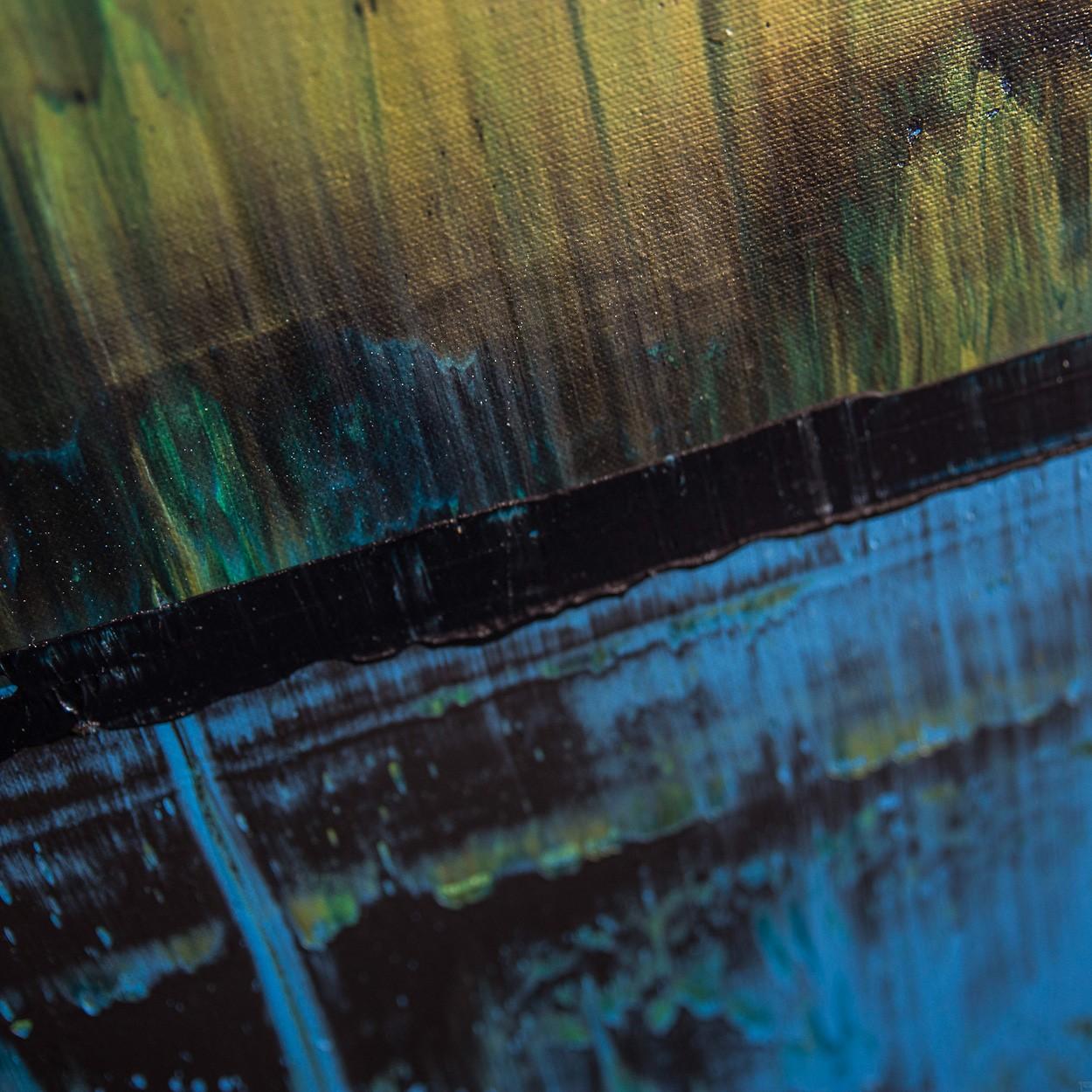 Prisma 6 - Kleiner Fluss,Detail | Malerei von Lali Torma | Acryl auf Leinwand, abstrakt