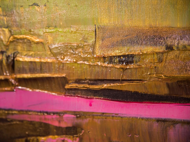 Prisma 13 - Pinker Nil | Malerei von Lali Torma | Acryl auf Leinwand, abstrakt, Detail 7