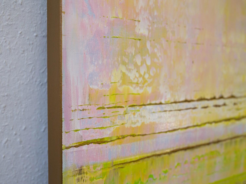 Prisma 13 - Pinker Nil | Malerei von Lali Torma | Acryl auf Leinwand, abstrakt, Detail 3
