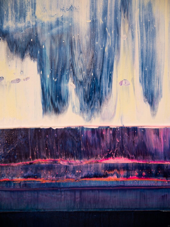 Prisma 14 – Iceberg Under Line | Malerei von Lali Torma | Acryl auf Leinwand, abstrakt, detail02