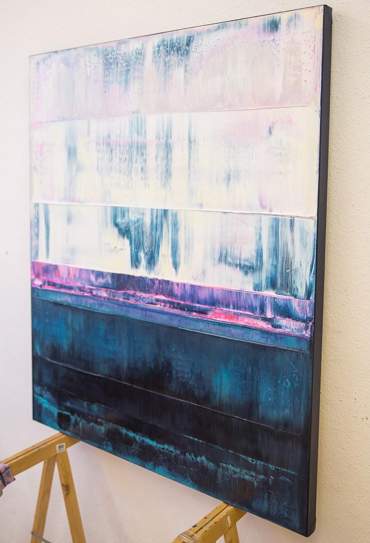 Prisma 14 – Iceberg Under Line | Malerei von Lali Torma | Acryl, abstrakt, Leinwand