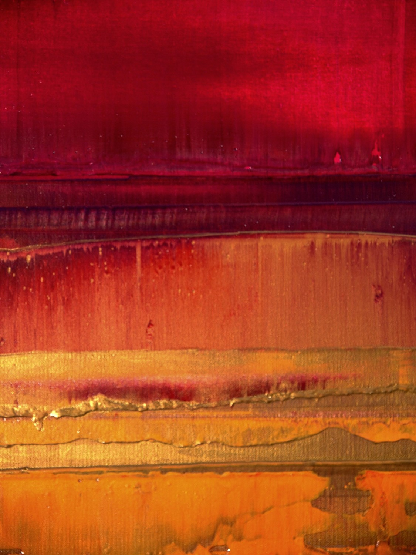 Prisma 15 – Sonnenuntergang Rubin | Malerei von Lali Torma | Acryl auf Leinwand, abstrakt, detail05