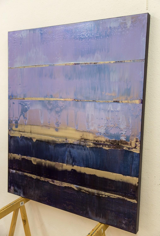 Prisma 17 – Amarant Dunst | Malerei von Lali Torma | Acryl, abstrakt, Leinwand