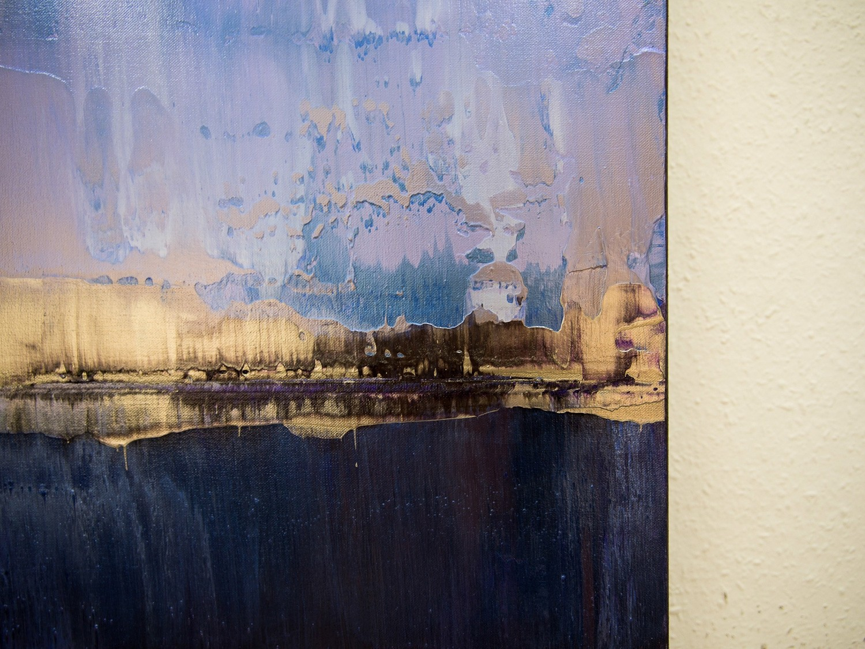 Prisma 17 – Amarant Dunst | Malerei von Lali Torma | Acryl auf Leinwand, abstrakt, Detail 4
