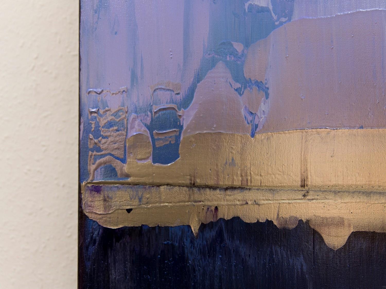 Prisma 17 – Amarant Dunst | Malerei von Lali Torma | Acryl auf Leinwand, abstrakt, Detail 5