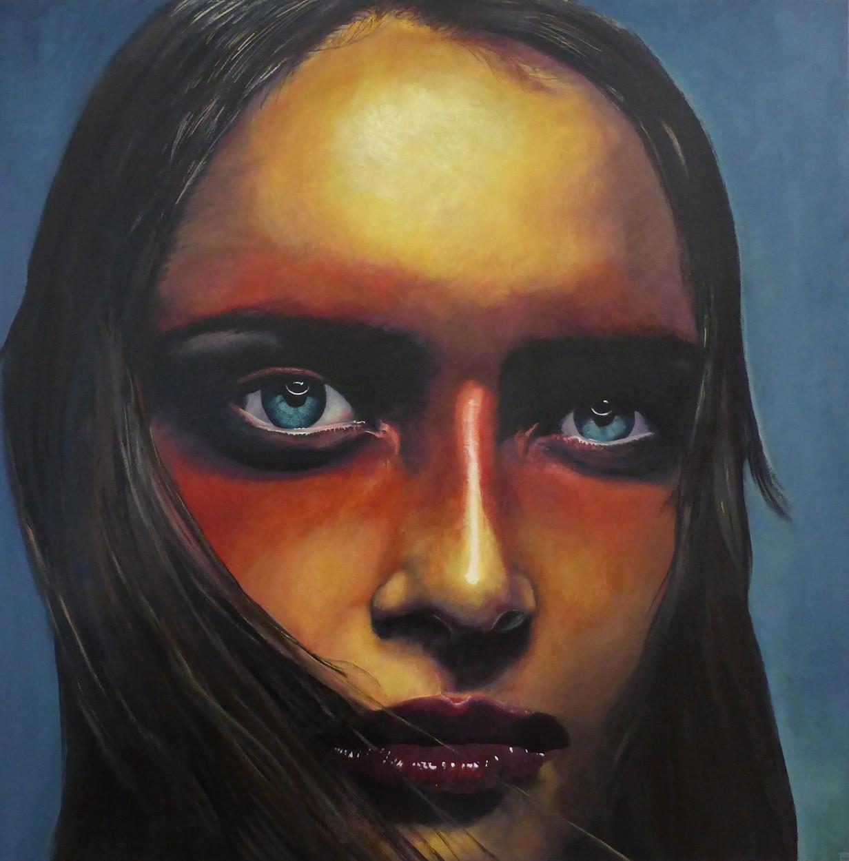Schwarz - Rot - Gold   Malerei von Eva Nordal   Öl auf Baumwolle, realistisch