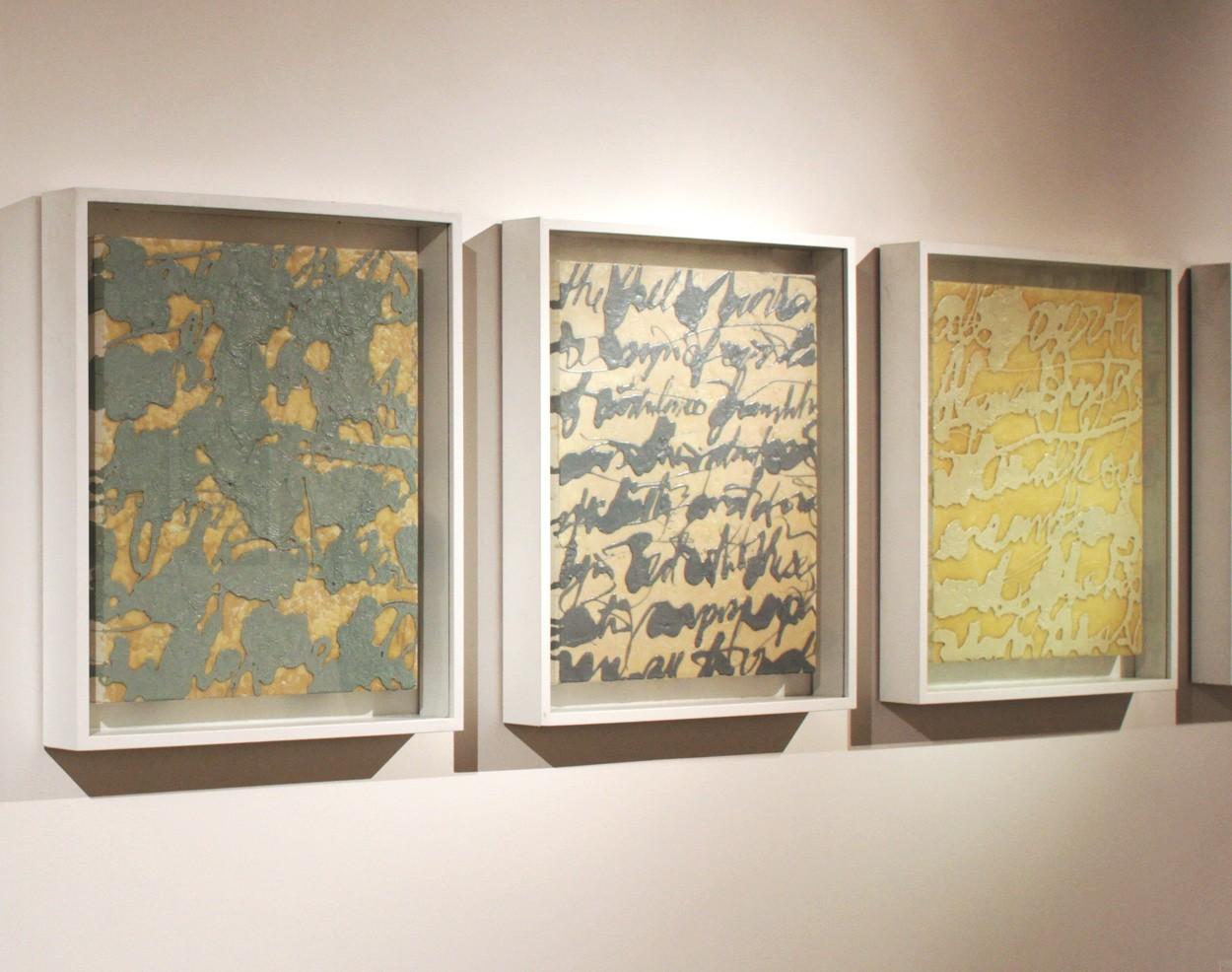Malerei Befehlen und Erobern #16, gerahmt | Ausstellung PROPAGANDA | Künstler Marek Schovanek