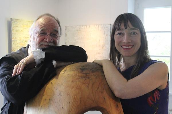 Galeristin Jennifer Grasshoff und Kurator Jon David